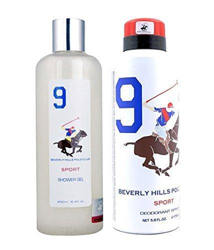 Beverly Hills Polo Club - Set de regalo 9 para hombre (desodorante y lavado del cuerpo)