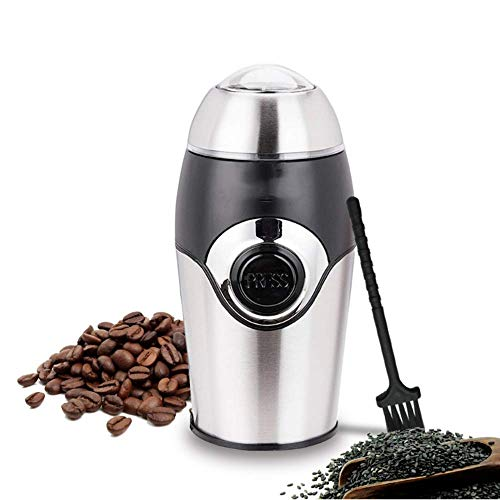 MLQ Coffee Grinder Electric, with Safety Lock System, 2.5 Ounce 200W Stainless Steel Powder Grinding Machine, for Nuts Herbs,Grains, Spices, Sugar