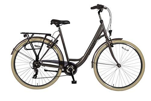 Altec 28 Zoll Damen Mädchen City Trekking Fahrrad Rad Bike Damenrad Cityfahrrad Damenfahrrad Cityrad Trekkingfahrrad Trekkingrad 7 Shimano Gang Beleuchtung Metro 55 cm BRAUN