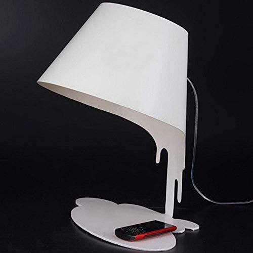DEJ Dumping Verf Emmer Led Bureau Lamp, Dumping Verf Emmer Glas Led Nachtlampje met Full Iron Made Lamp Lichaam