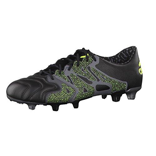 adidas X15.1 FG/AG Leather, Herren Fußballschuhe 42 Schwarz/Grau/Gelb