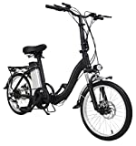 Elektro Klapprad Z1, 20 Zoll, Elektrofahrrad, Klappfahrrad E-Bike 22,2 kg, 250 Watt, E-Bike, Faltrad, Klapprad, Fahrrad 6-Gang-Shimano_Schaltung, Scheibenbremsen, Aluminium