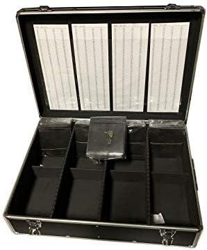 New MegaDisc 1000 CD DVD Black Aluminum Media Storage Case Mess Free Holder Box with Sleeves product image