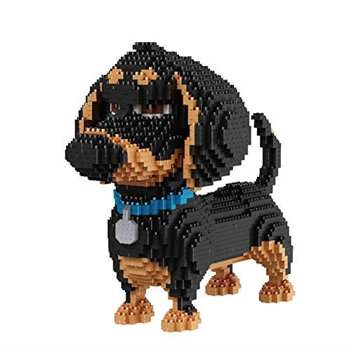 TITST 2000+ Piezas Super Cute Dog Model Building Nanoblock Nano Mini Blocks DIY Game...