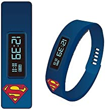 Superman Fitness Tracker LED Watch by Accutime