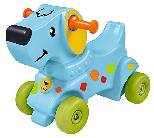 BIG-Buddy - Laufrad im Hundedesign, Kinderfahrzeug mit Aufklebern, für Jungen und Mädchen, belastbar bis zu 50 kg, Rutscher-Tier für Kinder ab 1 Jahr