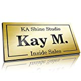 Personalized Name Tag, 1.5' x 3', Pin, Magnetic or Adhesive Backing, Choice of 18 Colors, Laser Engraved, Executive...