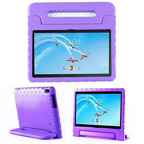 TIRIN Lenovo TAB 4 10 Plus Case- Light Weight EVA Shock Proof Convertible Handle Stand Case Cover for Lenovo TAB 4 10 Plus 2017 Tablet(TB-X704F/N)(NOT fit Lenovo TAB 4 10 Tablet TB-X304F/N), Purple