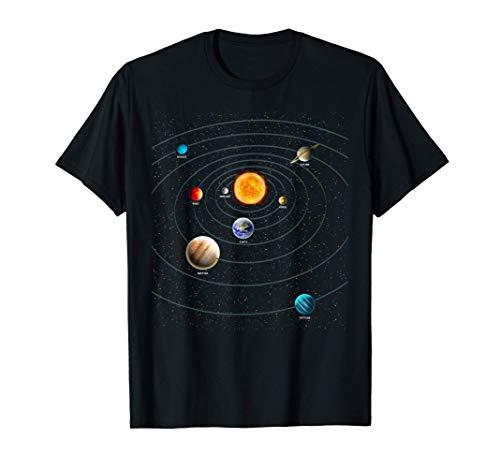 太陽系 宇宙の惑星 宇宙 天文科学 Tシャツ
