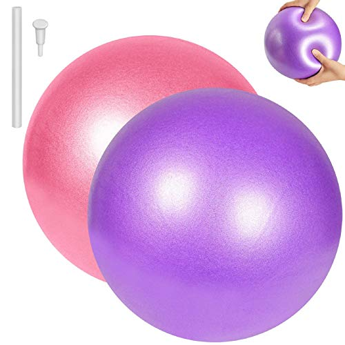 Tuopuda Pilates Ball Gymnastikball Klein 25CM Ball Yoga Ball Anti-Burst Fitnessball Rutschfester Yoga Übungsball für Stabilität Core Training und Physiotherapie im Büro Hause Fitnessstudio