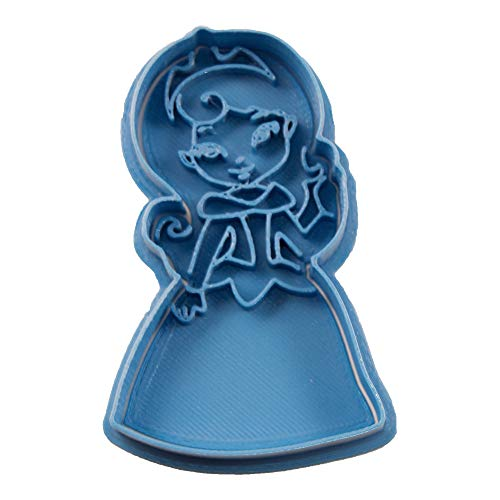 Cuticuter Aurora Chibi Princesa Disney Cortador de Galletas, Azul, 8x7x1.5 cm