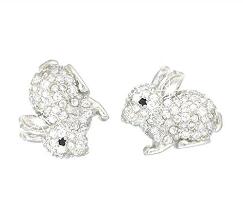 baobei pendientes de conejo para mujer plata de ley circonitas cúbicas brillantes conejito lindo...