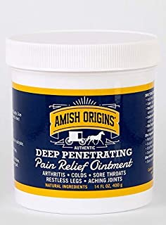 Amish Origins Deep Penetrating Pain Relief Ointment 14 oz - Medicated Pain Relief Cream, Quick Acting Pain Relief Formula,...