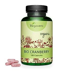 BIO Arándano Rojo Vegavero® | Apto Para Veganos | Testado en Laboratorio | Libre de Aditivos & GMO | 1.5% de Principio Activo | Infecciones Urinarias & Cistitis | 180 Cápsulas