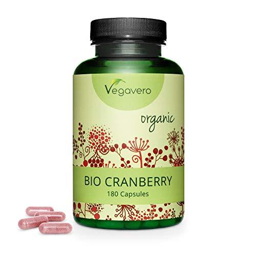 VEGAVERO® BIO Cranberry Kapseln | EINZIGARTIG: 450 mg Bio Extrakt | 100% natürlich | 180 Kapseln (3-Monatsvorrat) | Cranberries aus Kanada, Extraktion in Frankreich | Ohne Zusatzstoffe | Vegan