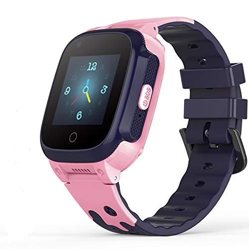 YONTEX 4G Intelligente Armbanduhr für Kinder, GPS-Smartwatch, kompatibel mit iOS und Android, bidirektionaler Videoanruf, SOS, Anti-Verlust, IPX7, wasserdicht, Smartwatch, Telefon mit Kamera, Rosa
