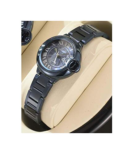 TradeShop - Orologio Polso Uomo Donna LONGBO 80771 Quarzo Calendario Impermeabile Moda Nero - 30081 - Donna