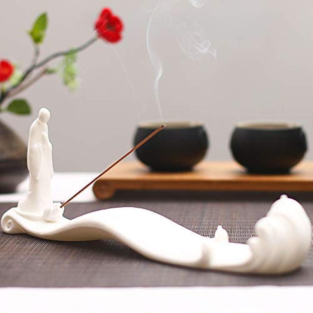 やろう野望炭素PHILOGOD 香炉 陶器線香香立て モンク潮を見てモデリング仏壇 お香 ホルダー