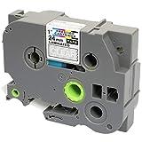10 Compatibles Casetes TZe-251 TZ-251 negro sobre blanco 24mm x 8m cintas laminadas para impresoras de etiquetas Brother P-Touch PT-2430PC 3600 9600 9700 9800 D600VP D800W E300VP E850 H500 P700 P750W