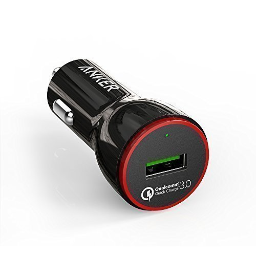 Anker PowerDrive+ 1 24W Quick Charge 3.0 USB Kfz Auto Ladegerät für Samsung Galaxy S8 /S7 / S6 / Edge/Plus, Note 4, Nexus, LG G5, iPhone, Smartphones, Tablets, Bluetooth Geräten, Powerbank usw.