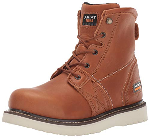 Ariat Work Men's Rebar Wedge 6' Construction Boot, Golden Grizzly, 10.5 D US