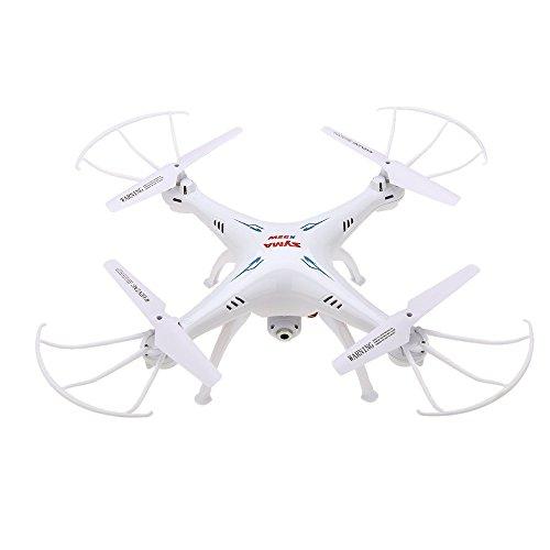 Syma X5SW 4CH 2.4G 6-Asse Giroscopio RC Wifi FPV Quadricottero Drone con Telecamera 0.3 MP, bianco