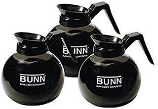Bunn Glass Coffee Pot Decanter/Carafe - Set of 3 - Black - Regular - 12 Cup Capacity
