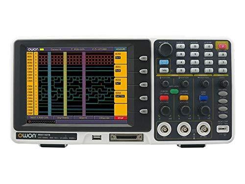 YYJYSM Osciloscopio Digital 2 En 1 Digital Mixed LA osciloscopio MSO7102TD 8 '' LCD 100MHz 16 Chs analizador de lógica Puntos FFT 2M Kit de osciloscopio Profesional