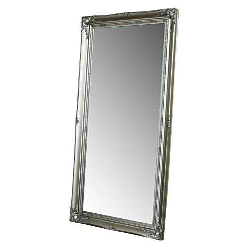Ampio specchio decorativo da muro/pavimento, colore argento