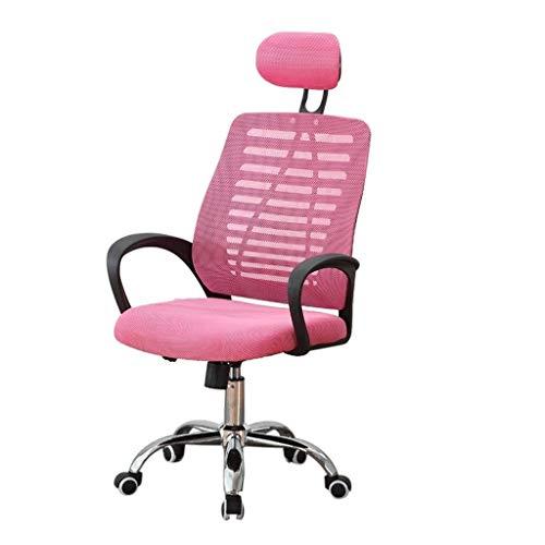 DJ Draaibare stoel Moderne en minimalistische bureaustoel op het net Kantoorstoel voor pc Vergaderstoel Sponge In hoogte verstelbare stoel Studentenzwenkstoel Studentenstoel roze