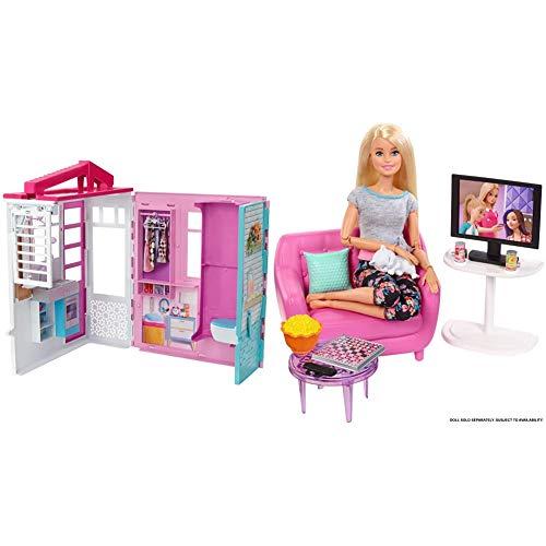 Barbie Casa de muñecas con Accesorios, Multicolor (FXG54), Embalaje estándar + Muebles de Interior, Accesorios para El Salón de La Casa de Muñecas (Fxg36)