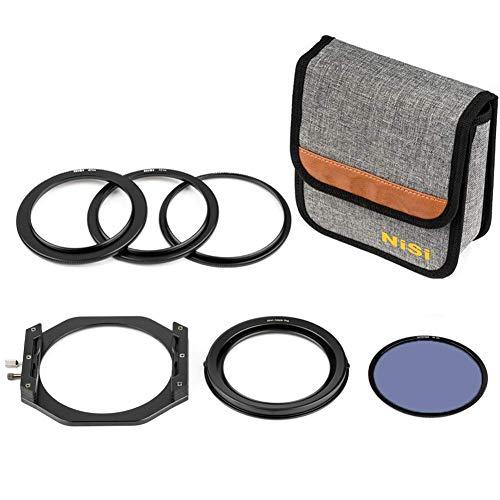 NiSi V6 Soporte de filtro, V6 100 mm, kit de soporte de filtro de sistema con filtro polarizador circular NC Paisaje (CPL), anillos adaptadores, bolsa de almacenamiento, tapa de lente V6