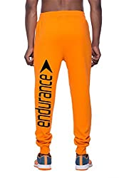 Clifton Mens BLL Printed Thermal Sweat Pant-Bright Orange-Black Endurance