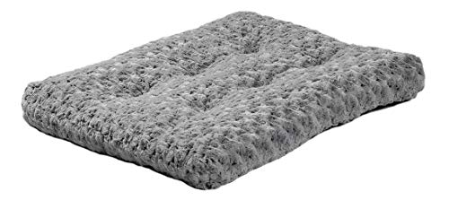 "MidWest Quiet Time Dog Bed & Crate Mat, Deluxe Ombre Swirl, 24"", Gray"
