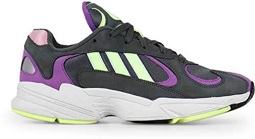 adidas Herrenschuhe Yung-1 Sneakers aus grauem Stoff BD7655