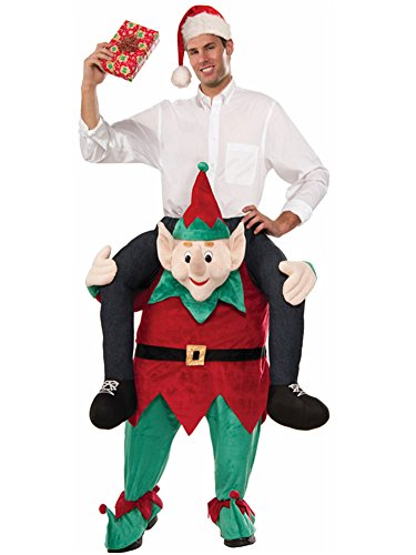 Halloween Carry Ride On Me Shoulder Adult Elf Mascot Costume Ride On Costume