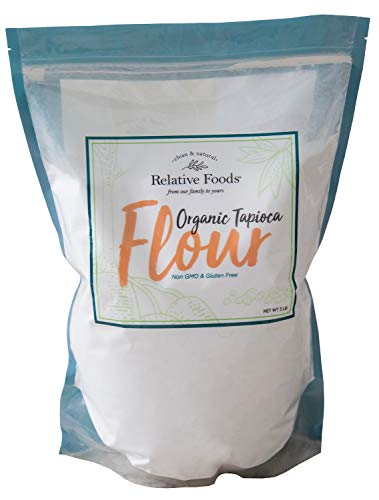 Relative Foods Organic Tapioca flour,3 Lbs., packaged in our gluten free, allergen free, vegan facility. Packaged in a heavy duty resealable bag. Certified gluten free.