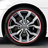 Izhiheng Effektive 8m Car Wheel Trim Trim Universal Car Styling Tire Rims Protector Tire Hub Anti -Collision Guard Line Rubber Trim (7 Farben)(None red) -