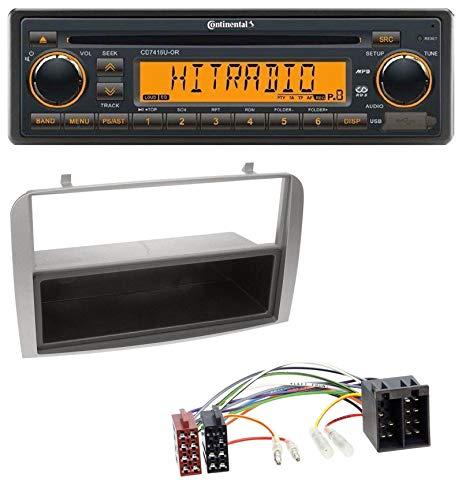 caraudio24 Continental CD7416U-OR USB AUX CD MP3 1DIN Autoradio für Alfa Romeo 147 GT Silber Ablagefach