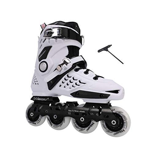 Taoke Inline-Skates, Schlittschuhe, Erwachsene Jungen und Mädchen, Roller Skates, Profi-Mehrzweck Skates (Farbe: weiß, Größe: EU 43 / US 10 / UK 9 / JP 26.5cm) dongdong