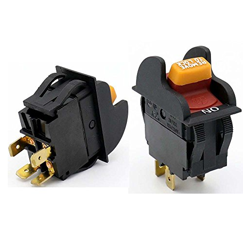 2Pcs HY7 20A/12A 125V/250VAC 4Pins Dustproof Industrial Electric On Off Key Operated Switches for Household Single Throw Bipolar Lock