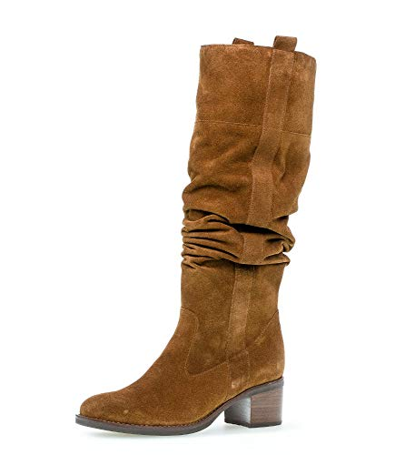 Gabor Damen Stiefel, Frauen Elegante Stiefel,Best Fitting, langschaftstiefel Boots lederstiefel reißverschluss,Cognac,39 EU / 6 UK