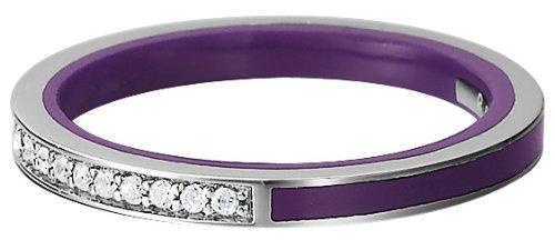 Esprit Damen-Ring 925 Sterling Silber rhodiniert Kristall Zirkonia Marin silver glam purple weiß