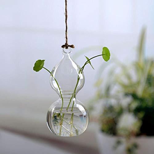 Juecan bloempotten van glas, hangend, plantenbak om op te hangen, terrarium, bloemenbak, transparant, decoratie voor thuis 5mmDual-C402D