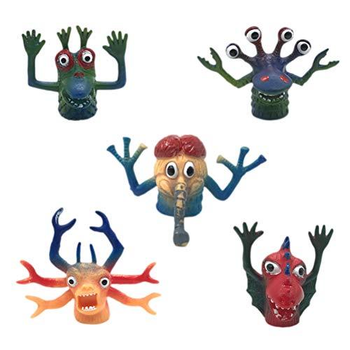 Toyvian 5 stücke Monster fingerpuppen TPR Tier Finger Spielzeug Finger Puppe interaktives Spielzeug Requisiten Spielzeug für Kind