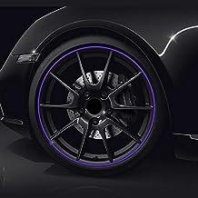 (Púrpura) PVC hecho de rueda de coche Trim Ring Shell Ring para llantas de 13-22 pulgadas
