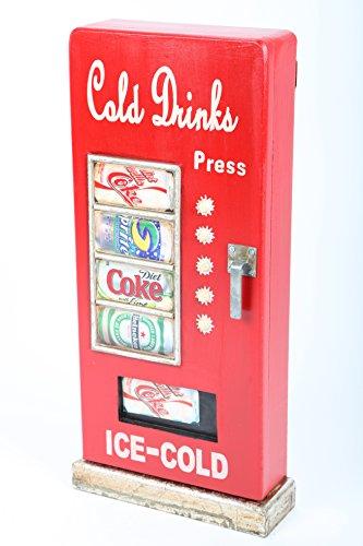 point home Design-Schlüsselschrank Cold Drinks, Retro, rot, 52cm