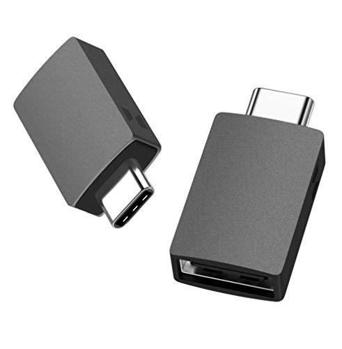USB C Adapter auf USB 3.0, uni USB Typ C Adapter, OTG adapter(Thunderbolt 3 kompatibel), kompatibel für MacBook, Surface Pro 7, Galaxy S20 und Note 10, Oneplus, Xiaomi, Huawei und mehr- 2 Stück