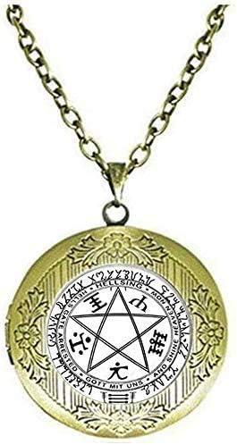 Hellsing Pentagram Locket Necklace Hellsing Pentagram Jewelry Art Picture Jewelry