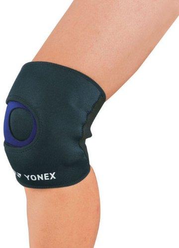 ヨネックス(YONEX) スポーツ MusclePower Supporter 膝サポーター (ショートタイプ) MPS-80SK Sサイズ ブラック×ブルー